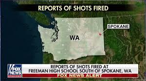 Spokane Washington Map Reports Of Shots Fired At Freeman High South Of Spokane
