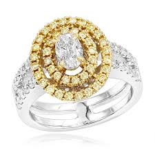 yellow gold oval engagement rings 18k 2 tone gold oval engagement ring white yellow diamonds