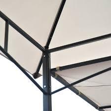 10x10 Metal Frame Gazebo by Outsunny 10 U0027 X 10 U0027 Steel Outdoor Garden Gazebo With Extendable