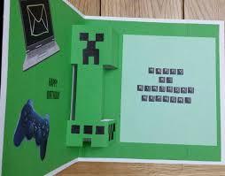 geburtstagskarten design die besten 25 minecraft birthday card ideen auf