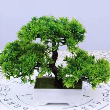 bonsai tree in pot artificial plant ornament decoration for