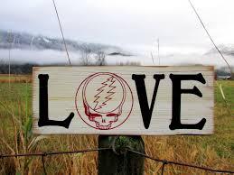 barn wood grateful dead sign grateful dead wall art grateful