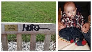 The Bench Graffiti Memorial Bench To Tragic Aj Has Been Defaced Blog Preston