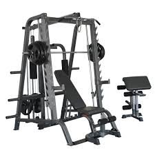 bodymax cf484 deluxe full linear smiths system including weight stack