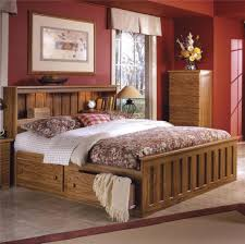 Full Size Bed Frame With Bookcase Headboard Furniture Home Bookcase Headboard King Bedroom Set Open Shelves