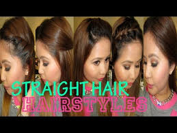 quick party hairstyles for straight hair 5 quick hairstyles for straight hair youtube