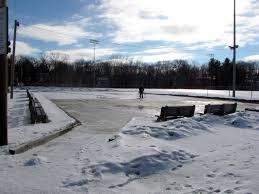 farmington workers start building ice skating rink lewiston sun