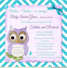 Church Baby Shower - teal chevron owl baby shower invites purple nursery colors style