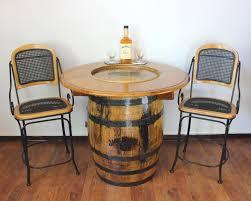Whiskey Barrel Kitchen Table Jack Daniels Pub Table Jack Daniels Whiskey Barrel Table