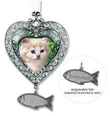 memorial ornaments cat memorial ornament heart shaped photo ornament