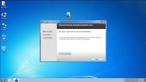 how do i fix microsoft security essentials installing error