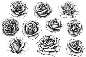 shaded drawings of roses tattoo pictures to pin on pinterest