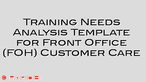 training needs analysis template for front office staff customer care