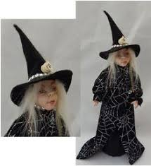 Halloween Witch Decorations For Trees by Halloween Ooak Pumpkin Head Witch Decoration Or Tree Topper Art