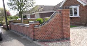brick wall designs for front gardens amaze garden pictures on