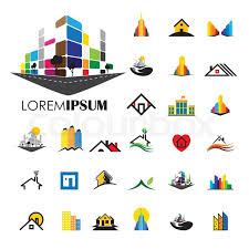 home logo icon set of bridge landmark icons in silhouette style stock vector
