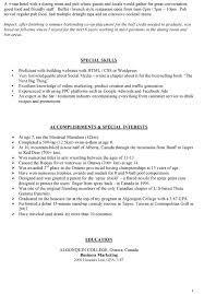 resume sample canada chronological resume sample mba application