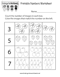printable numbers worksheet free kindergarten math worksheet for