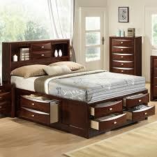 king size bed bookcase headboard calssic platform storage bed with headboard 2 drawer storage solid