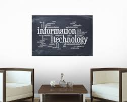 amazon com information technology word cloud wall mural by