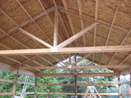 pole barn truss design aesthetic yet fully functional pole barn