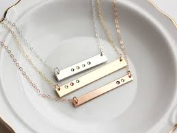 personalized bar necklace gold birthstone bar necklace personalized birthstone necklace