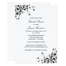 Black And White Wedding Invitations Black And White Bridal Shower Invitations U0026 Announcements Zazzle