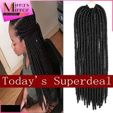 Long Synthetic Hair Extensions by Hair Extension Long Faux Locs Crochet 18inch Braid Hair Dreadlock