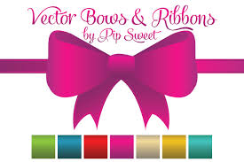 bows and ribbons vector bows ribbons illustrations creative market
