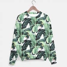 banana sweater tropical banana leaf sweater live heroes