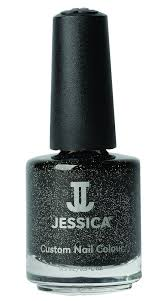 jessica custom nail colour 645 black ice from degruchys com