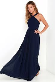 navy maxi dress lulus air of navy blue maxi dress fully lined 100