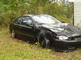 honda ricer wrecked 95 honda civic coupe for sale