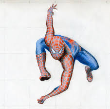 draw spiderman action