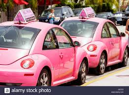 volkswagen pink miami beach florida collins avenue big pink restaurant business