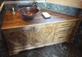 rustic bathroom decoration using aged wooden rustic bathroom