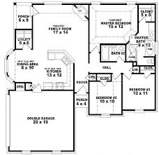 4 Bedroom House Plans One Story Cozy Design 11 4 Bedroom 3 Bath 1 Story House Plans 2 Homeca