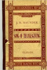 song of thanksgiving a cantata for harvest and general festival