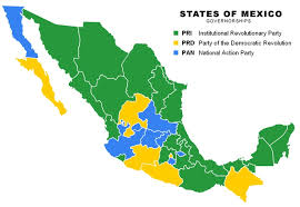 political map of mexico this political map shows the different dominations of political