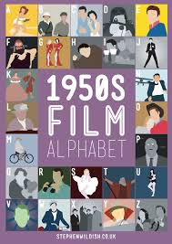 film quiz poster 1950s film alphabet poster that quizzes your 1950 s movie knowledge