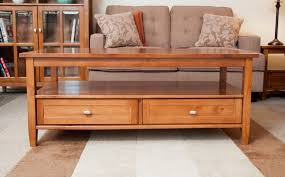 wood coffee table with storage coffee table with drawers and shelf coffee tables