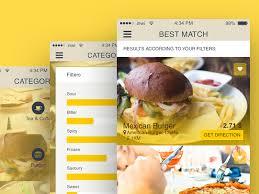 free finder app free ios restaurant finder app by sashoto seeam dribbble