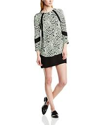 french connection women u0027s leopard moth crepe tunic animal print