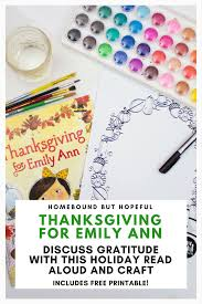 thanksgiving for emily story time printable