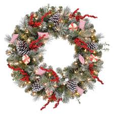 shop artificial christmas wreaths at lowes com