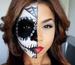 half sugar skull halloween tutorial youtube