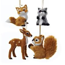 plush animal ornaments 4 assorted kurt s adler