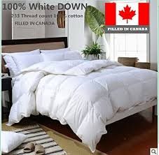 Best Goose Down Duvet Buy The Best Canadian White Goose Down Duvet Comforter Filled In
