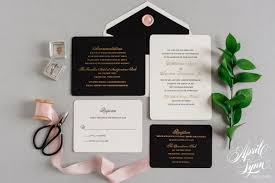 wedding invitations luxury andy s luxury gold foil and letterpress wedding invitation