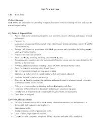 resume exles objectives teller resume sles free exles of bank resumes exle